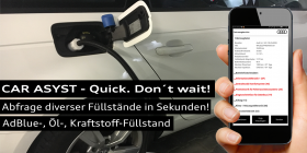 CAR ASYST Abfrage Füllstände AdBlue, Öl, Kraftstoff
