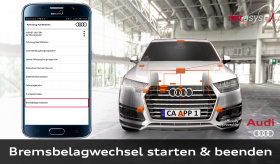 CAR ASYST für Audi - Bremsbelagwechel, Bremsbeläge wechseln