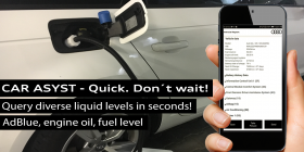 CAR ASYST - AdBlue, fuel, engine oil level