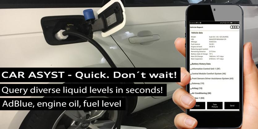 CAR ASYST - AdBlue, fuel, engine oil level