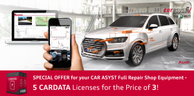 Special offer 5 for 3 CARDATA Licenses - Full Repair Shop Equipment