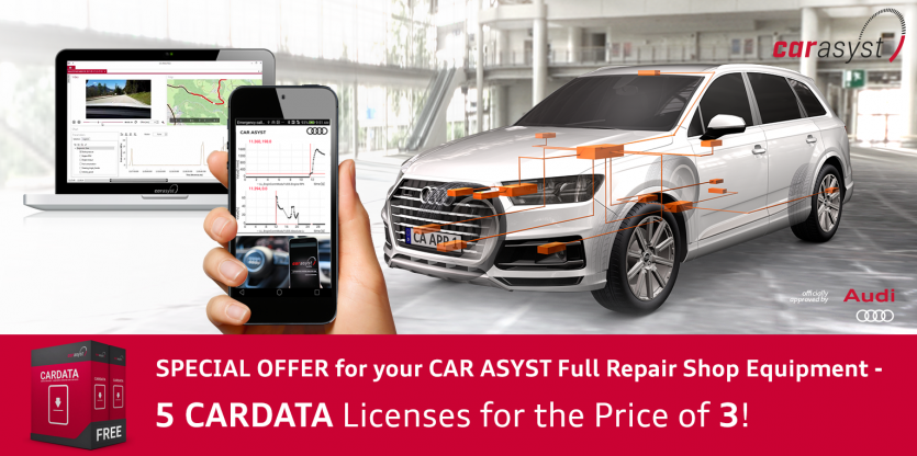 Special offer 5 for 3 CARDATA Licenses - Full Repair Shop Equipment