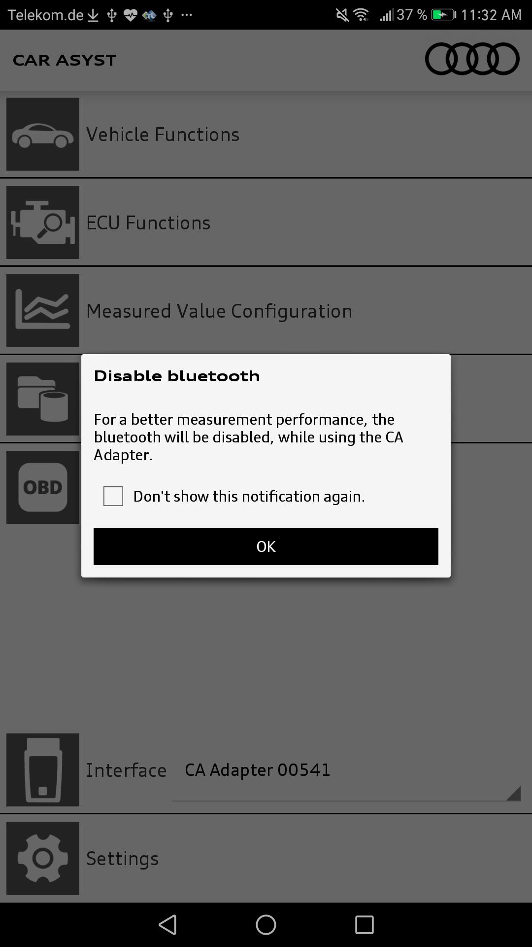 CAR ASYST Deactivate Bluetooth