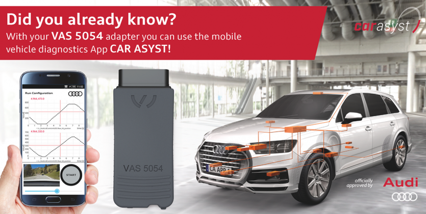 Use your VAS 5054A Adapter also for mobile vehicle